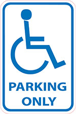 Handicap-parking-only